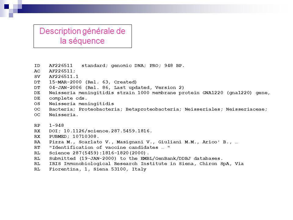 ID AF226511 standard; genomic DNA; PRO; 948 BP.AC AF226511; SV AF226511.1 DT 15-MAR-2000 (Rel.