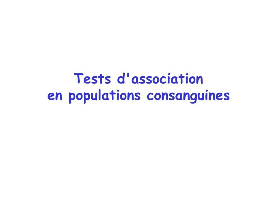 Tests d'association en populations consanguines