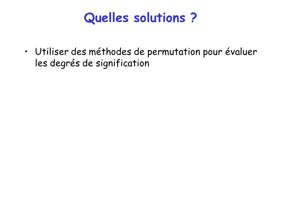 Quelles solutions ? Utiliser des méthodes de permutation pour évaluer les degrés de signification