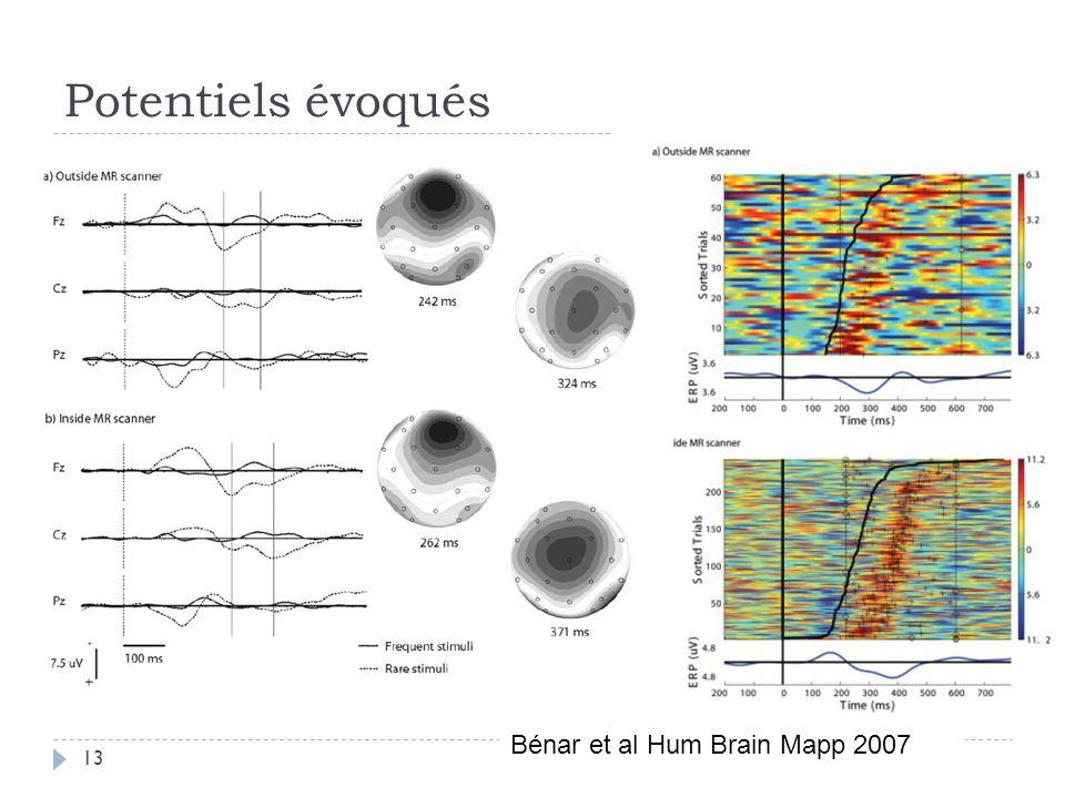 Potentiels évoqués Bénar et al Hum Brain Mapp 2007 13