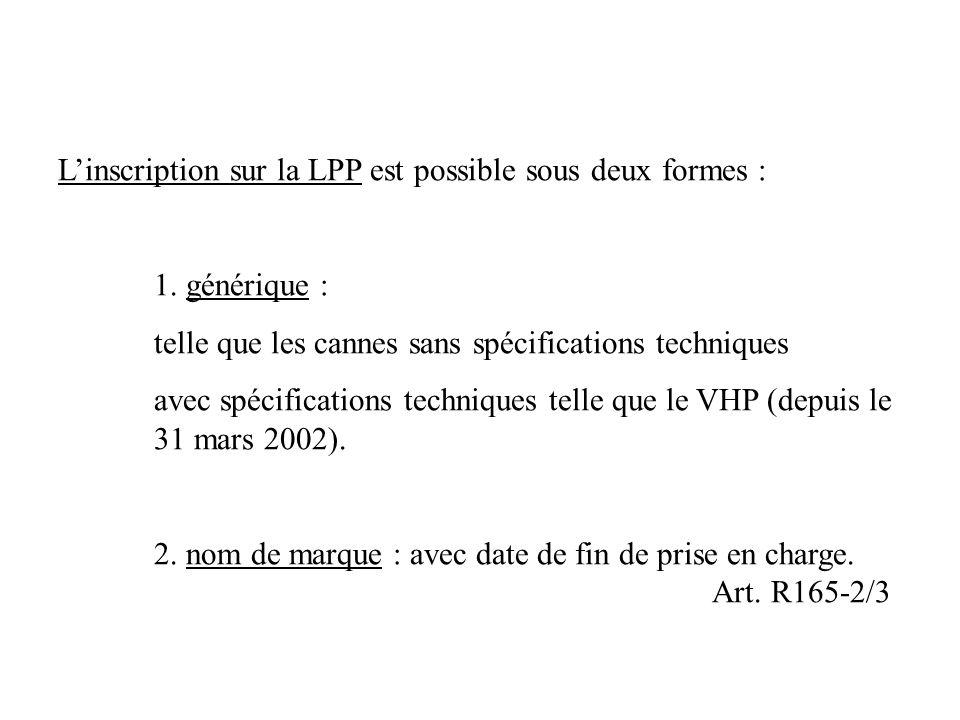 Linscription sur la LPP est possible sous deux formes : 1.