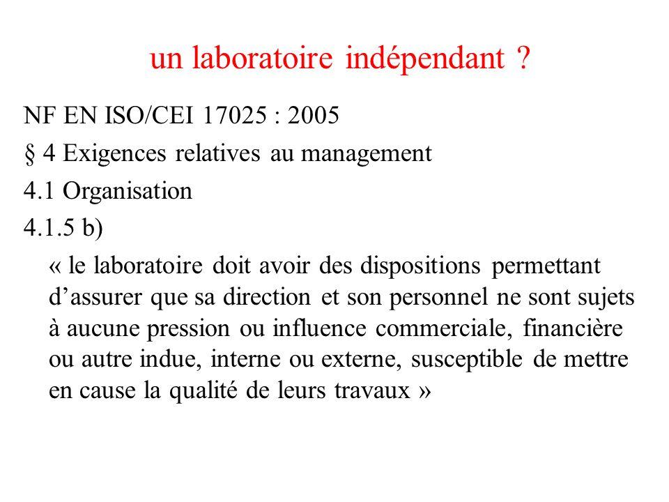 un laboratoire indépendant .