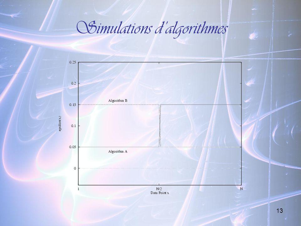 13 Simulations dalgorithmes