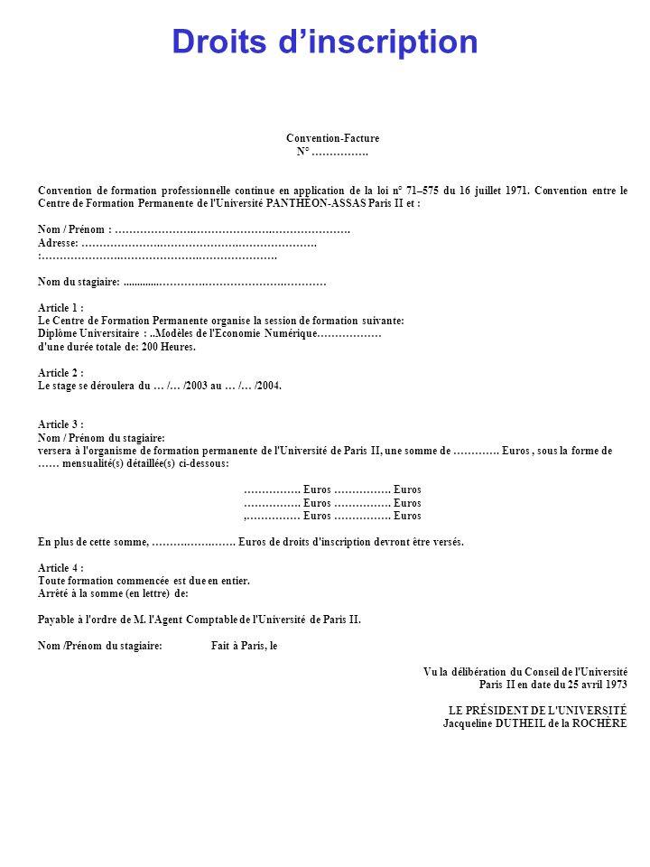 Fiche de renseignements Modèles de lEconomie numérique Formulaire dinscription Votre Nom : Votre Prénom : Votre Téléphone : Votre date de naissance : Votre Email : Vos diplômes ou votre formation professionnelle (résumée) : Vos connaissances en informatique : Bénéficiez-vous de financements d organismes officiels.