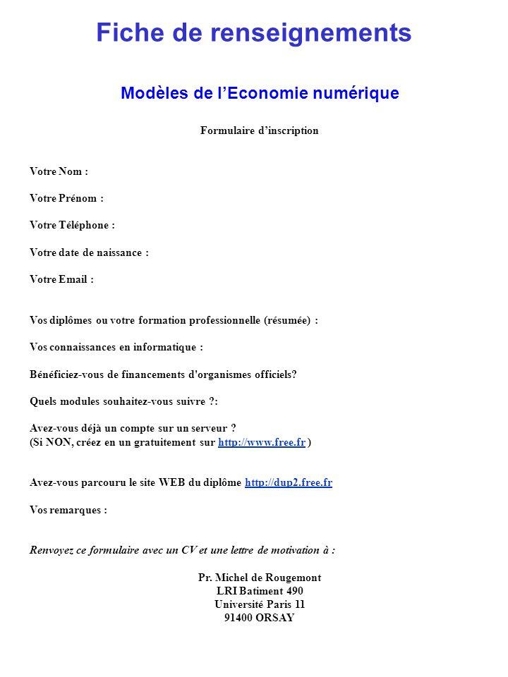 Modèles de lEconomie numérique Module 1 : Informatique (5 unités), Halim Msilti Outils élémentaires : réseau, Client-Serveur, Bases de Données Informatique de Base (25h) : Protocoles réseaux TCP/IP, ftp, http.