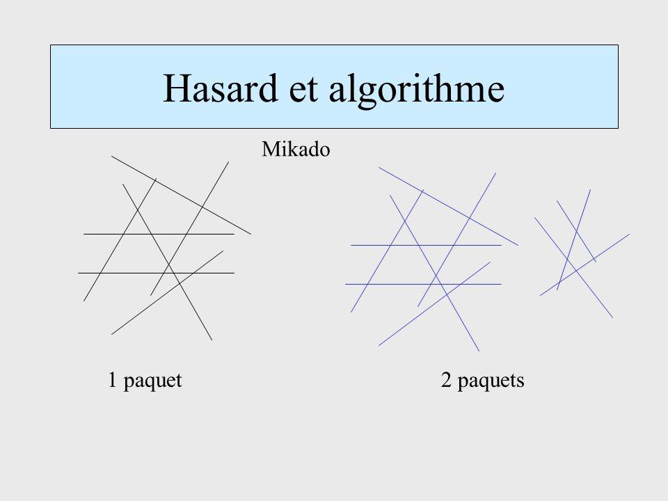 Hasard et algorithme 2 paquets1 paquet Mikado