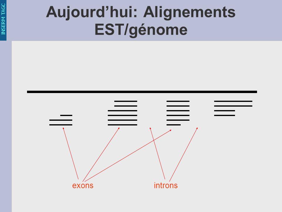 INSERM TAGC Aujourdhui: Alignements EST/génome exonsintrons