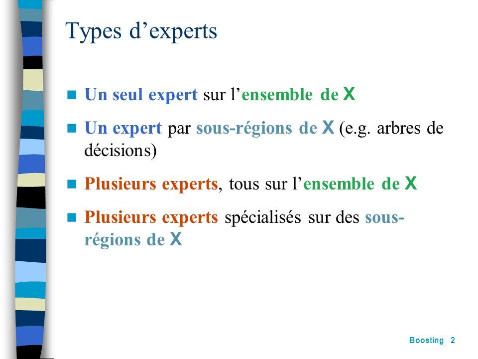 A. Cornuéjols IAA (basé sur Rob Schapires IJCAI99 talk) Combiner des apprenants: le boosting