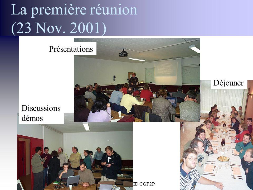 30 Janvier 2002 Réunion ACI GRID CGP2P36 La première réunion (23 Nov. 2001) Présentations Discussions démos Déjeuner