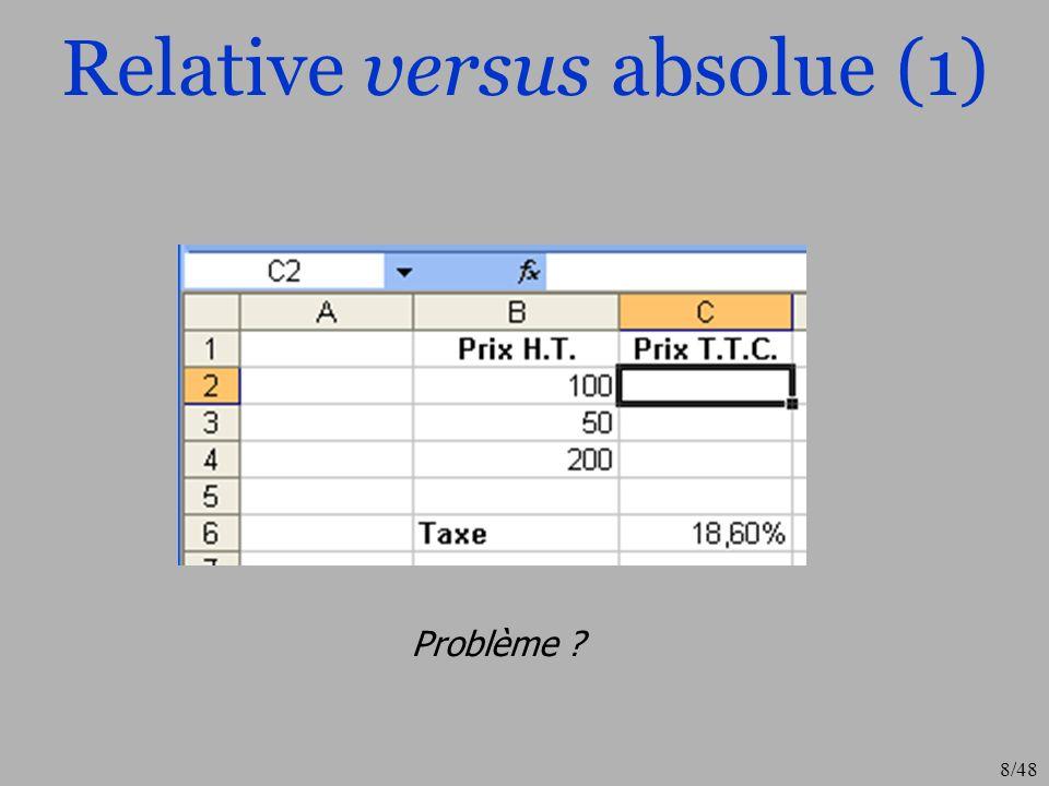 9/48 Relative versus absolue (2) Formule en référence relative