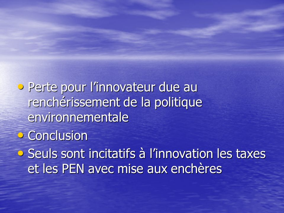 Etape 3 : lajustement optimal de la politique innovateurimitateur ajustement C i1 C i2 C j1 C j2 C1C1C1C1 C2C2C2C2