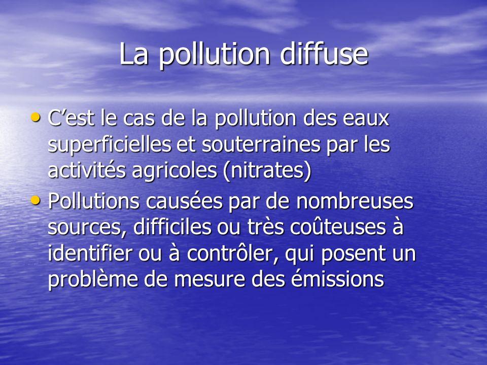 Les autres instruments donnent des résultats ambigus qui dépendent des courbes de coût de dépollution et de dommage Les autres instruments donnent des