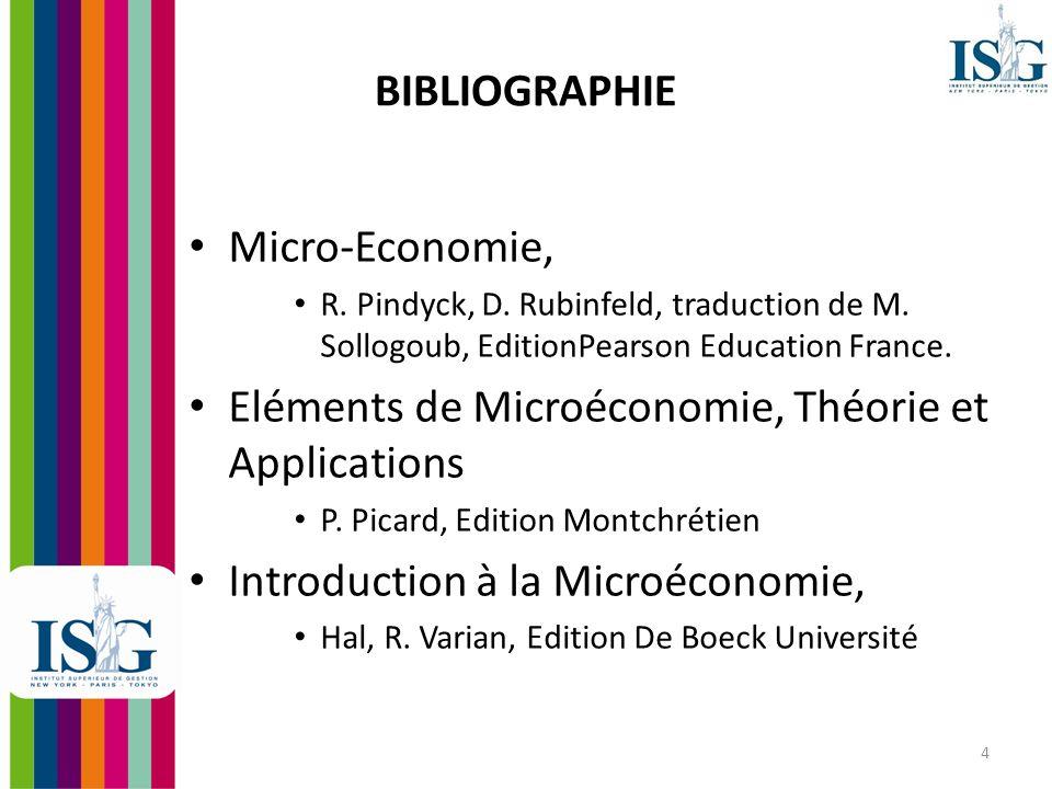 5 Introduction à la Microéconomie
