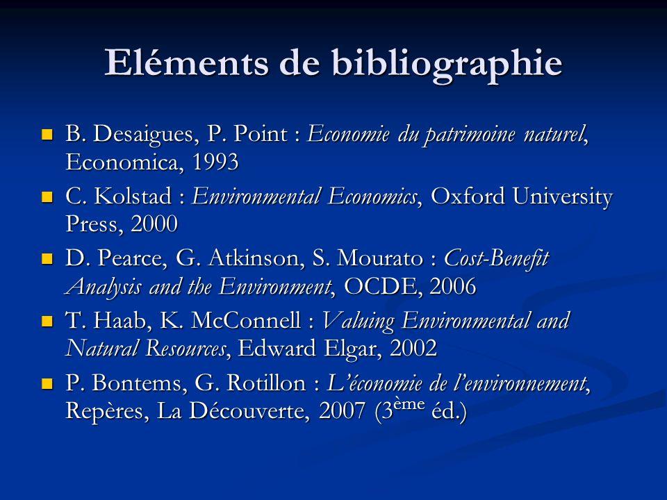 Eléments de bibliographie B.Desaigues, P.