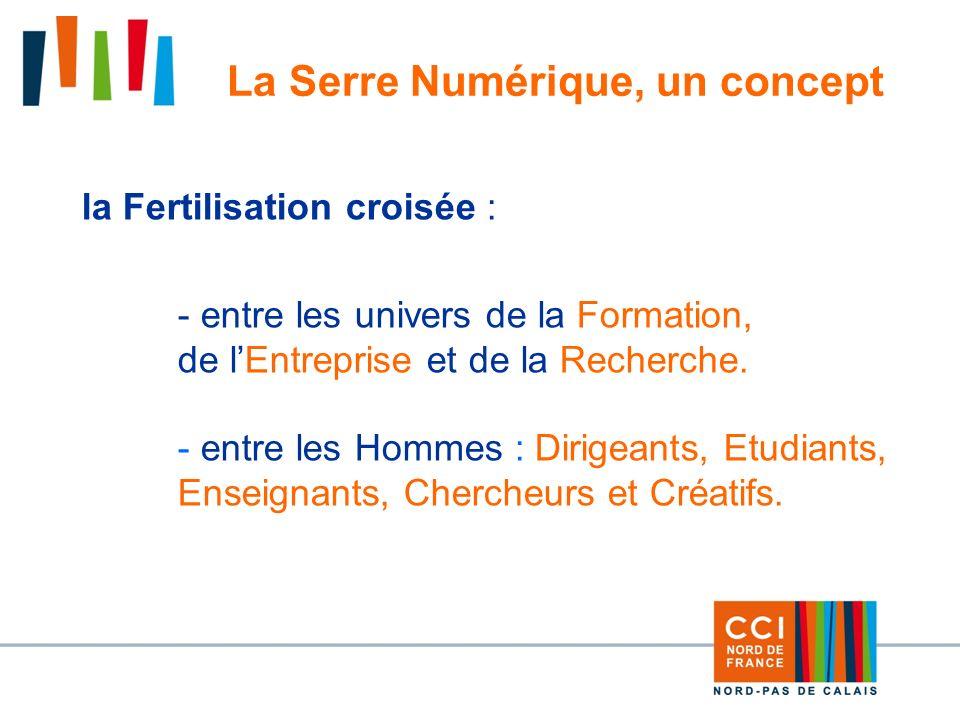 9 La Serre Numérique, un concept la Fertilisation croisée : - entre les univers de la Formation, de lEntreprise et de la Recherche.
