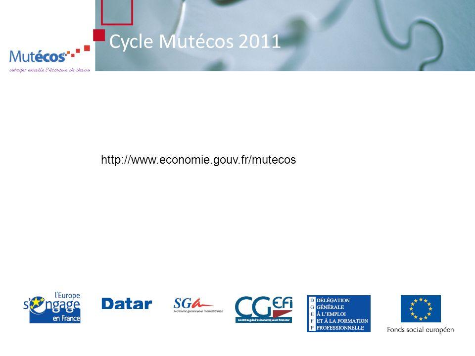 Cycle Mutécos 2011 http://www.economie.gouv.fr/mutecos