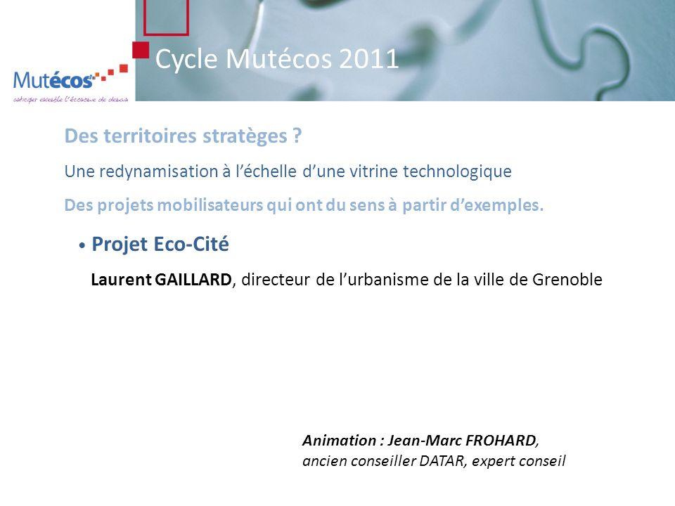 Cycle Mutécos 2011 Des politiques publiques adaptées, partagées, avec une optimisation des moyens et des ressources.