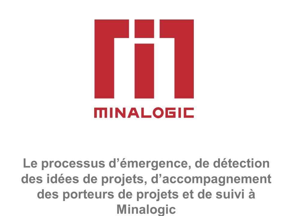 Le processus démergence, de détection des idées de projets, daccompagnement des porteurs de projets et de suivi à Minalogic