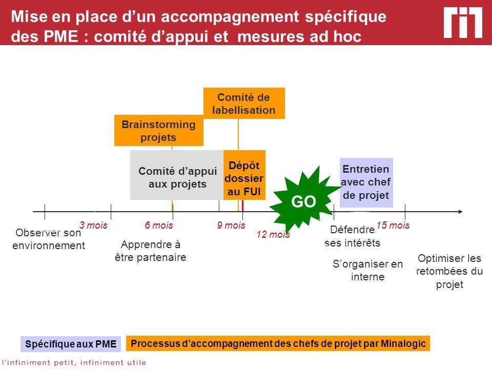 Mise en place dun accompagnement spécifique des PME : comité dappui et mesures ad hoc Observer son environnement Apprendre à être partenaire 3 mois6 m