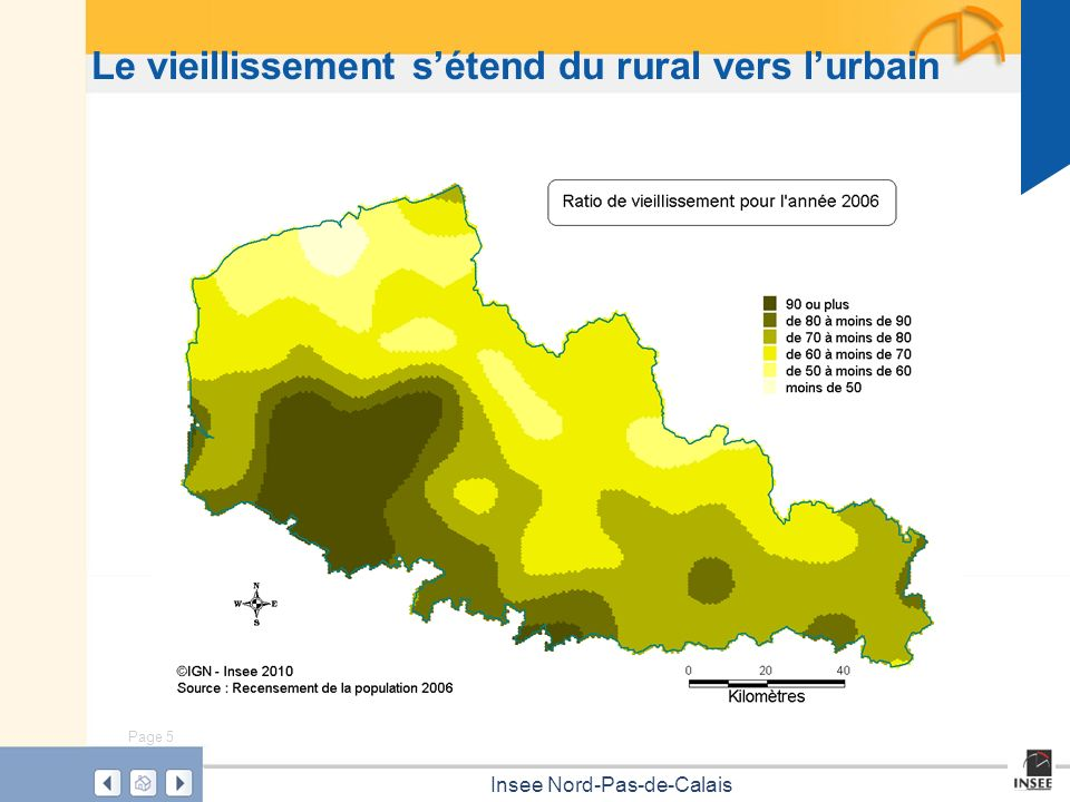 Page 5 Insee Nord-Pas-de-Calais Le vieillissement sétend du rural vers lurbain