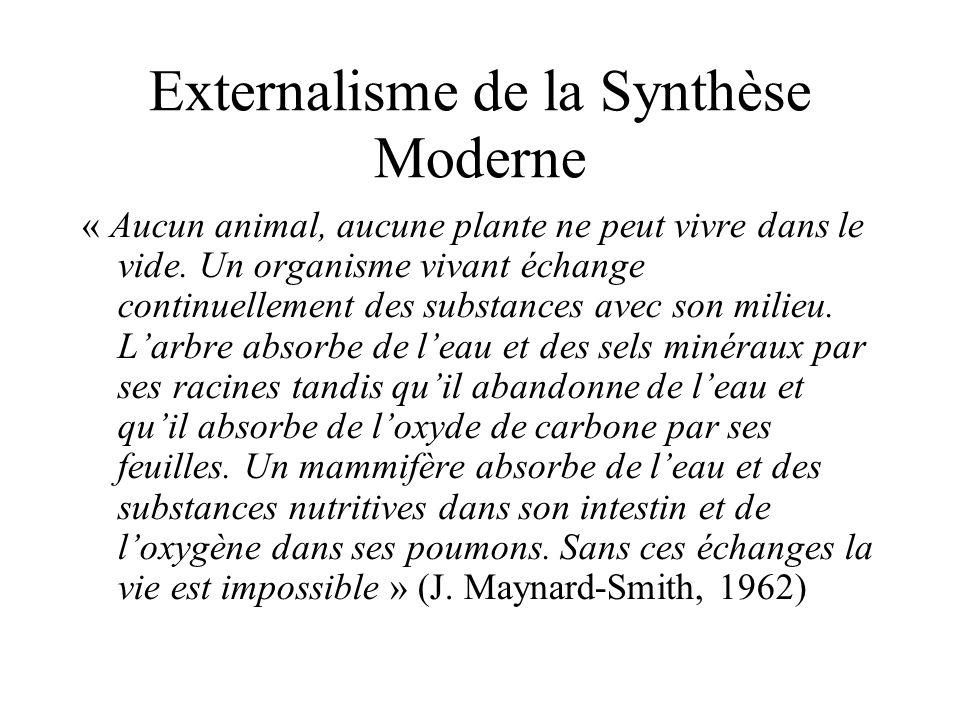 « Aucun animal, aucune plante ne peut vivre dans le vide. Un organisme vivant échange continuellement des substances avec son milieu. Larbre absorbe d