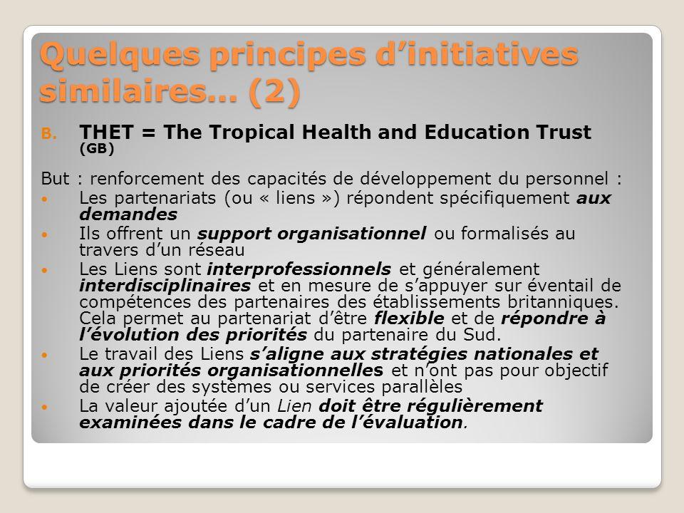 Quelques principes dinitiatives similaires… (3) C.