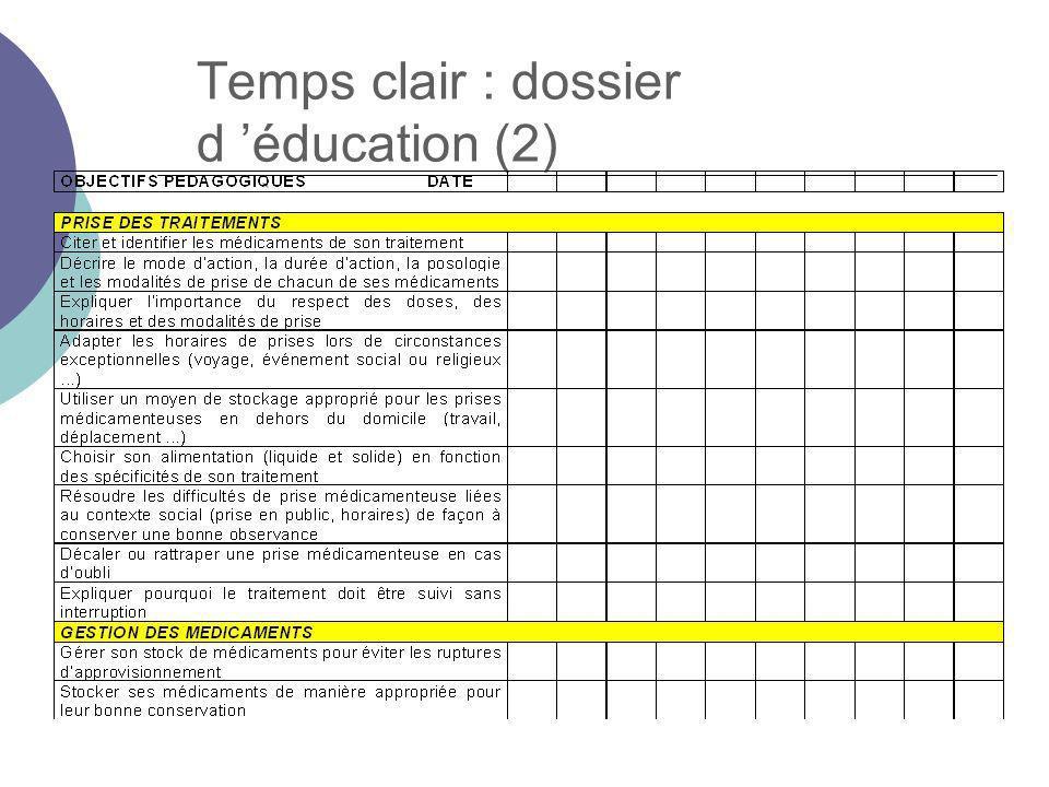 Temps clair : dossier d éducation (2)