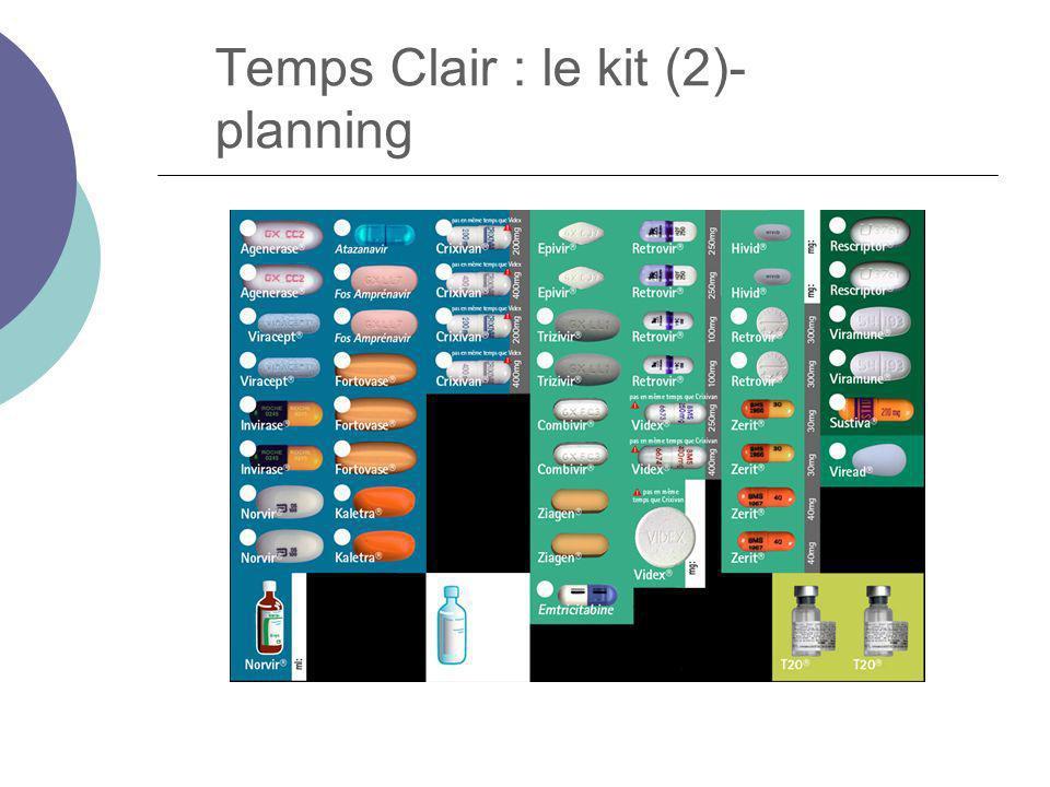 Temps Clair : le kit (2)- planning