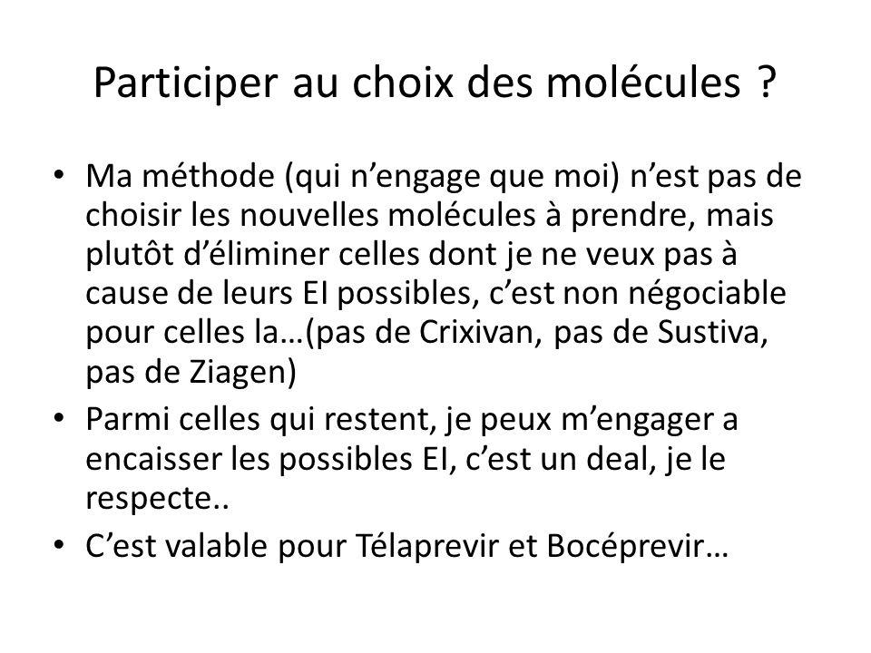 Participer au choix des molécules .