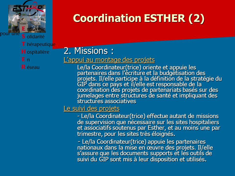 Coordination ESTHER (2) 2.