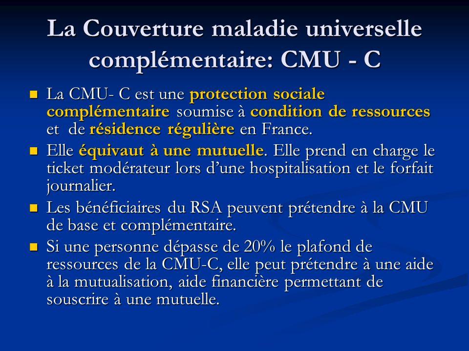 La mutuelle La mutuelle permet la prise en charge du ticket modérateur et du forfait journalier lors dune hospitalisation.