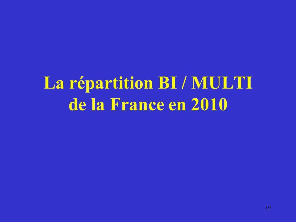 La répartition BI / MULTI de la France en 2010 19