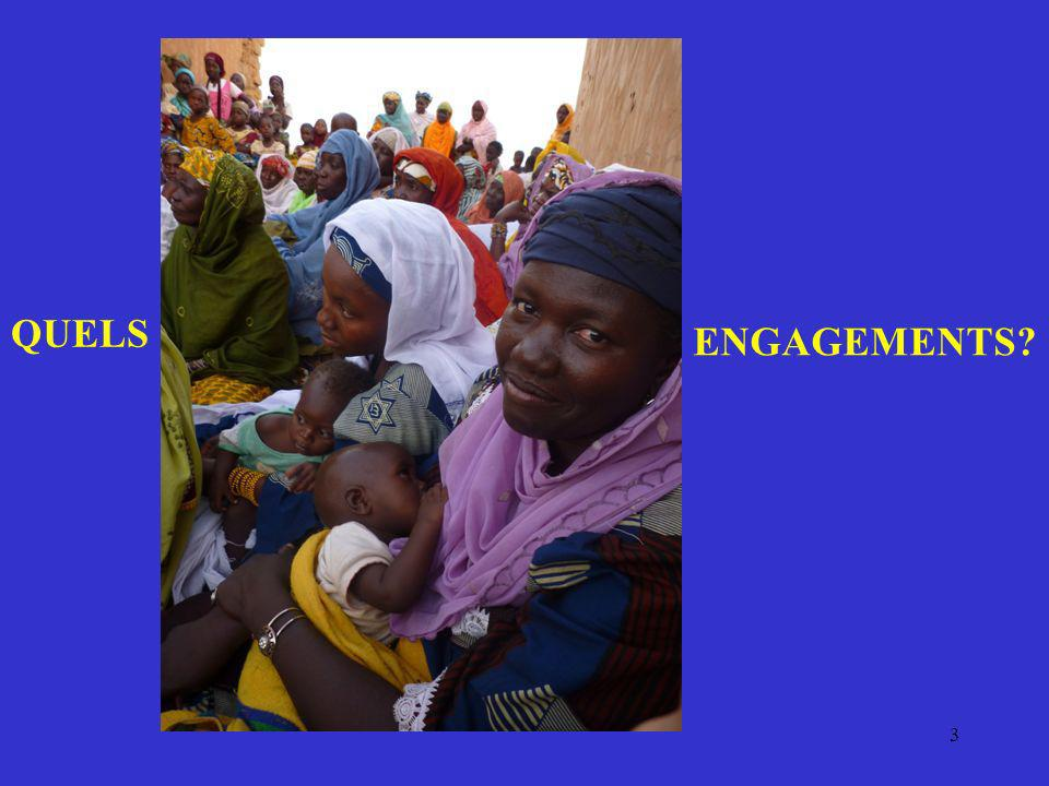 4 Objectifs du Millénaire pour le développement (ONU : sept 2000 pour 2010 => 2015 !) 1.