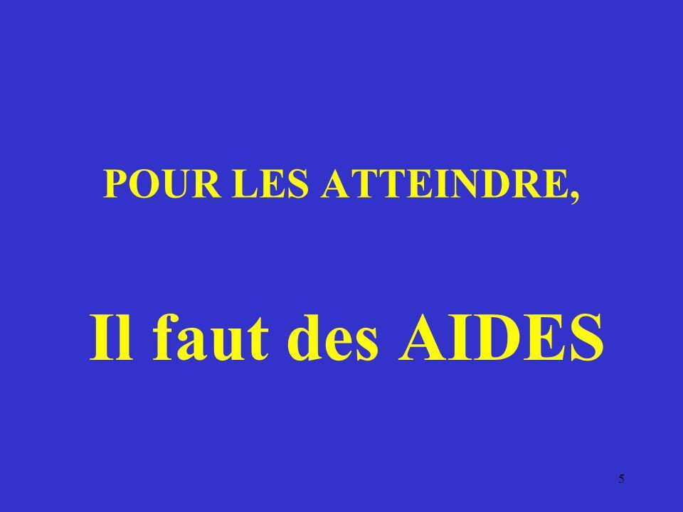 Les aides au développement 1/ AIDES PUBLIQUES = APD –Bilatérales (USAID, DFID, AFD, GTZ…) –Multilatérales (BM, FMI, FM, SNU….) 2/ AIDES PRIVEES –Fondations (Gates, Clinton, de France, Bettencourt- Schueller, K.