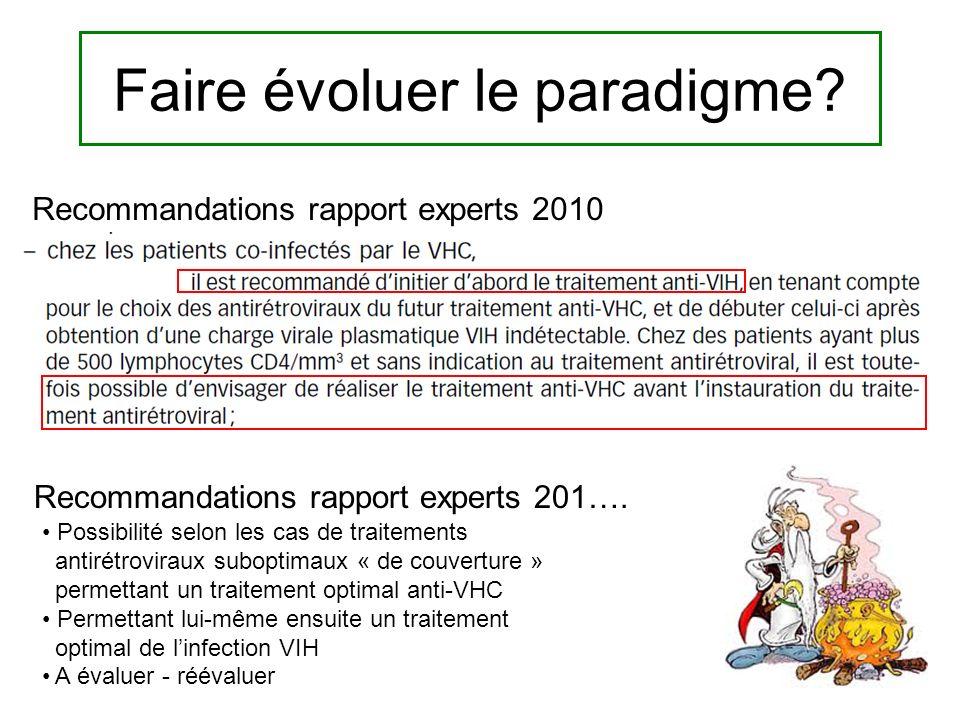 Recommandations rapport experts 2010 Faire évoluer le paradigme.