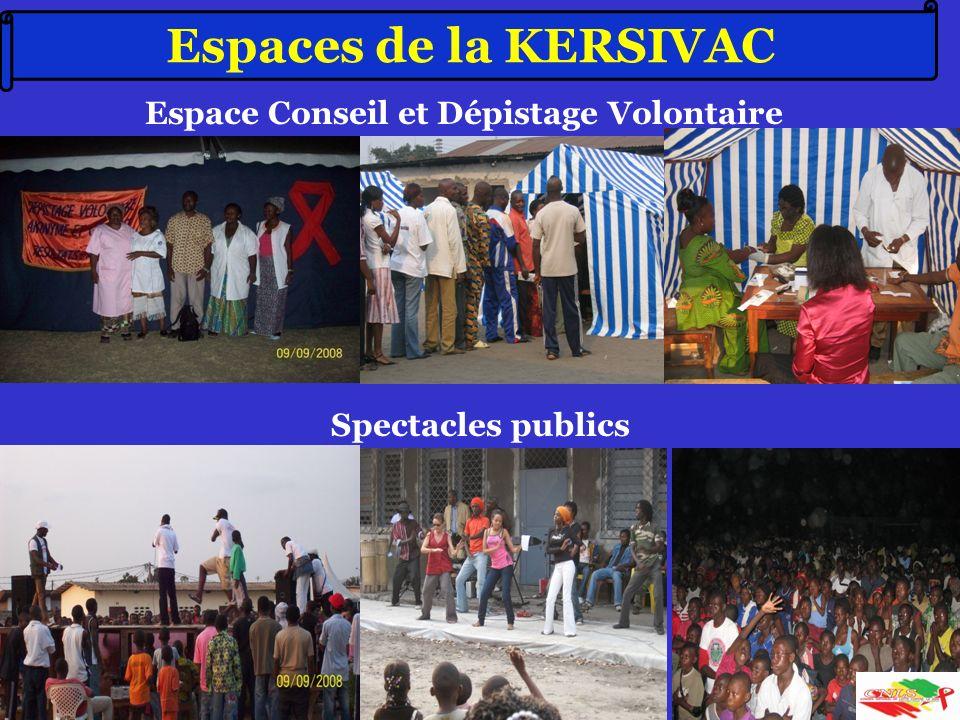 65 Espaces de la KERSIVAC Espace Conseil et Dépistage Volontaire Spectacles publics