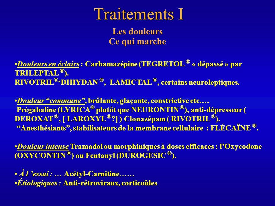 Traitements II Les douleurs Ce qui ne marche(rait) pas Les antalgiques simples.