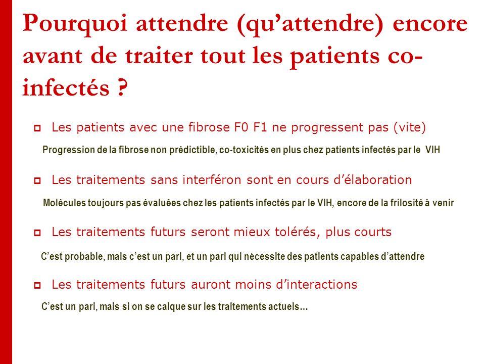 Pourquoi attendre (quattendre) encore avant de traiter tout les patients co- infectés .