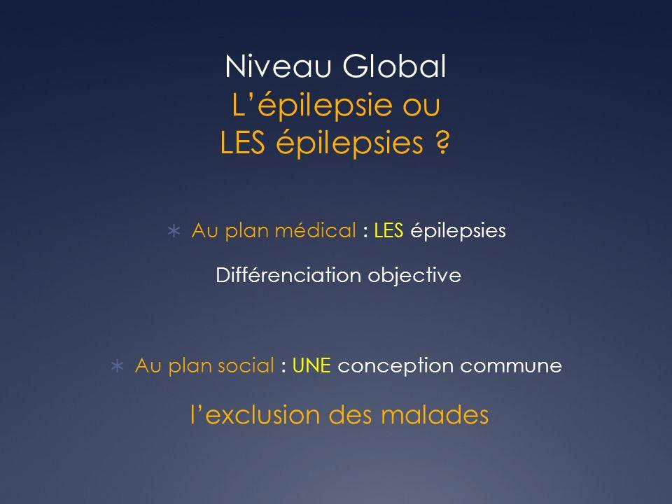 Niveau Global Lépilepsie ou LES épilepsies .