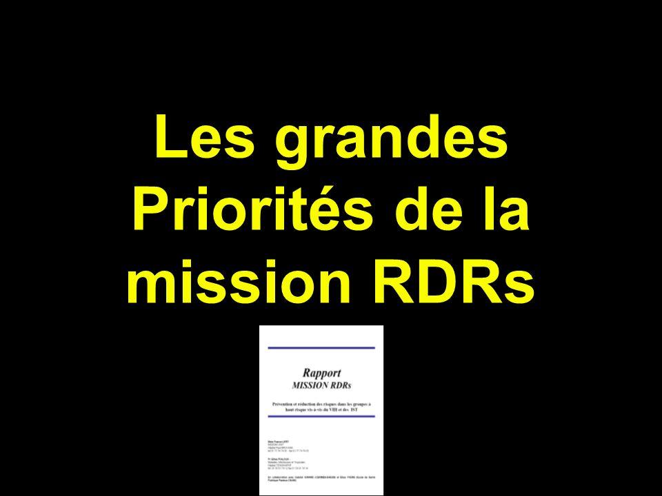 Les grandes Priorités de la mission RDRs