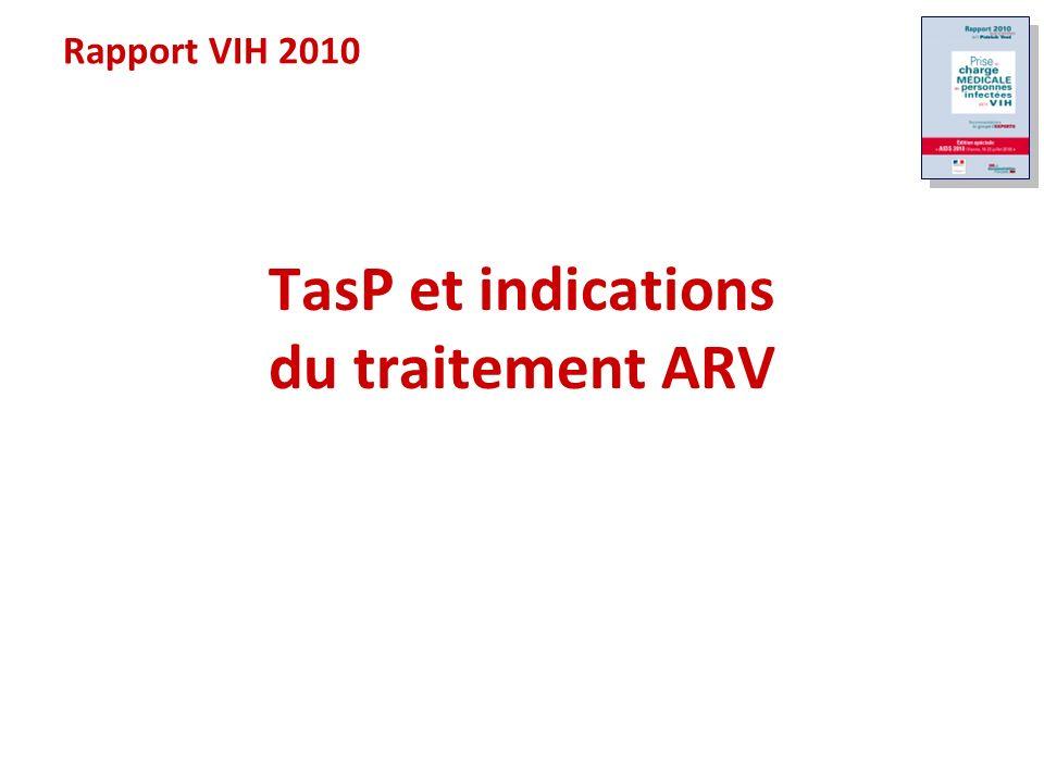 TasP et indications du traitement ARV Rapport VIH 2010