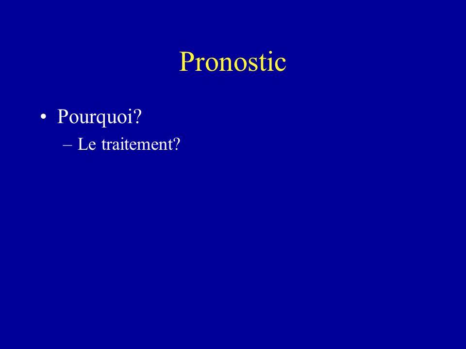 Pronostic Pourquoi? –Le traitement?