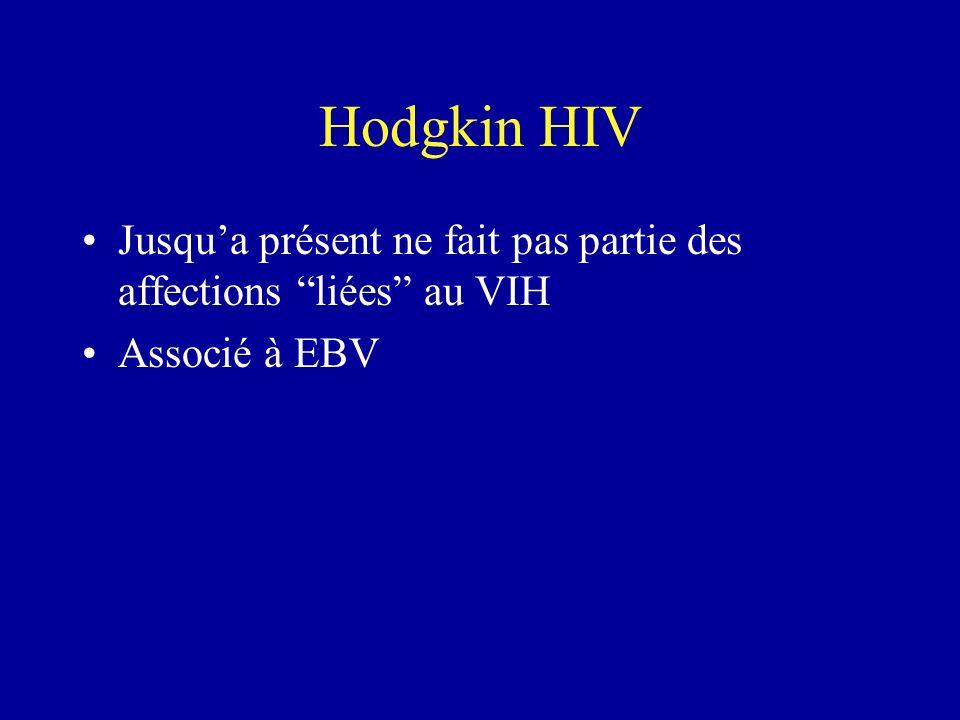 Hodgkin HIV Jusqua présent ne fait pas partie des affections liées au VIH Associé à EBV