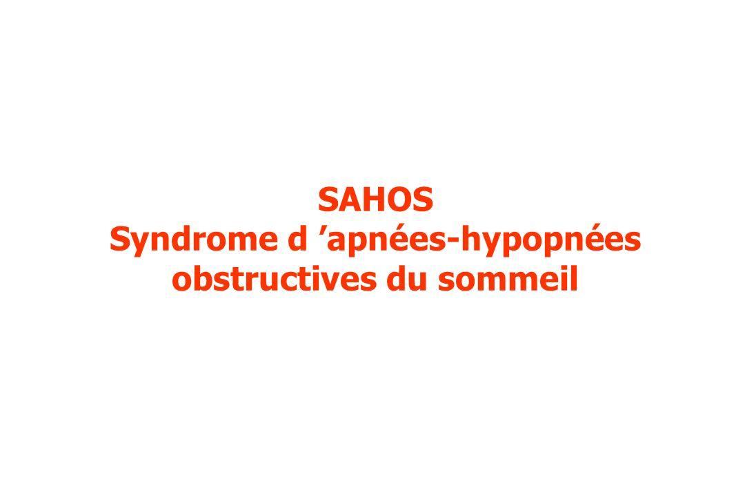 SAHOS Syndrome d apnées-hypopnées obstructives du sommeil
