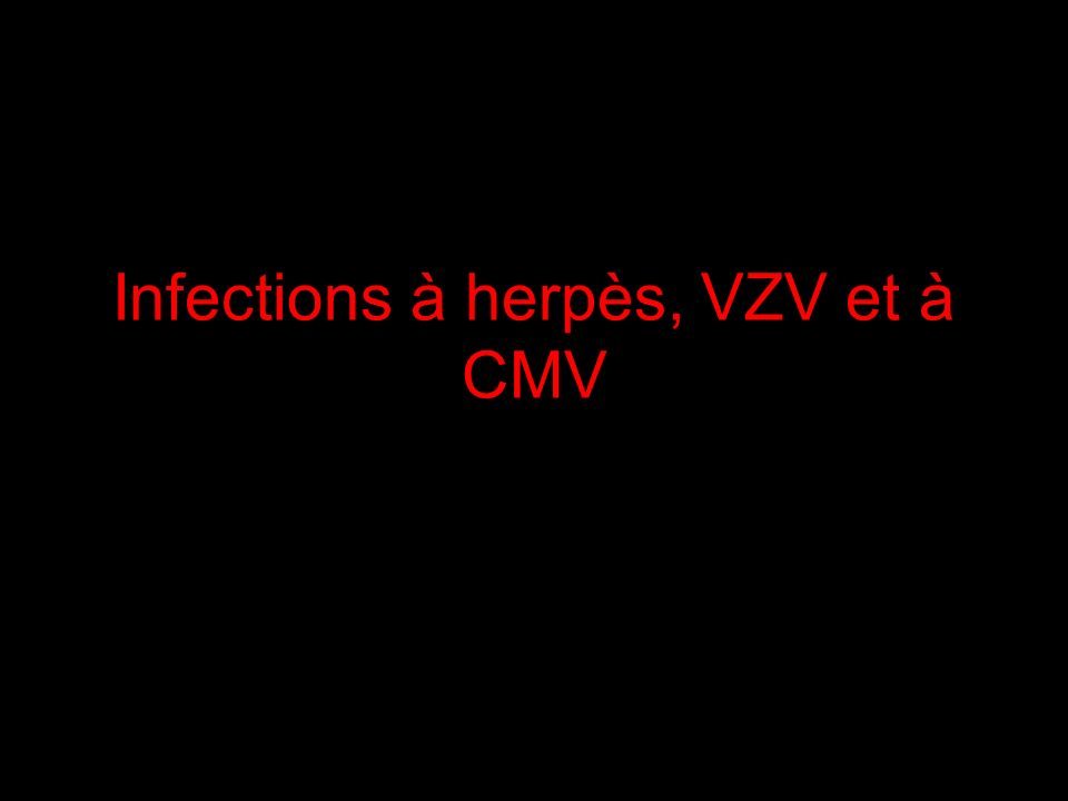 Infections à herpès, VZV et à CMV Juliette Pavie