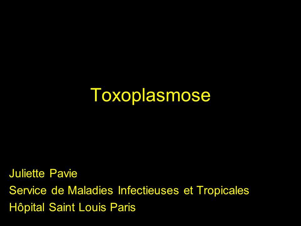 Généralités Parasitose due à Toxoplasma gondii (protozoaire) Infection ubiquitaire, plus fréquente dans les pays occidentaux Prévalence de sérologie positive au Laos:20- 25%?.