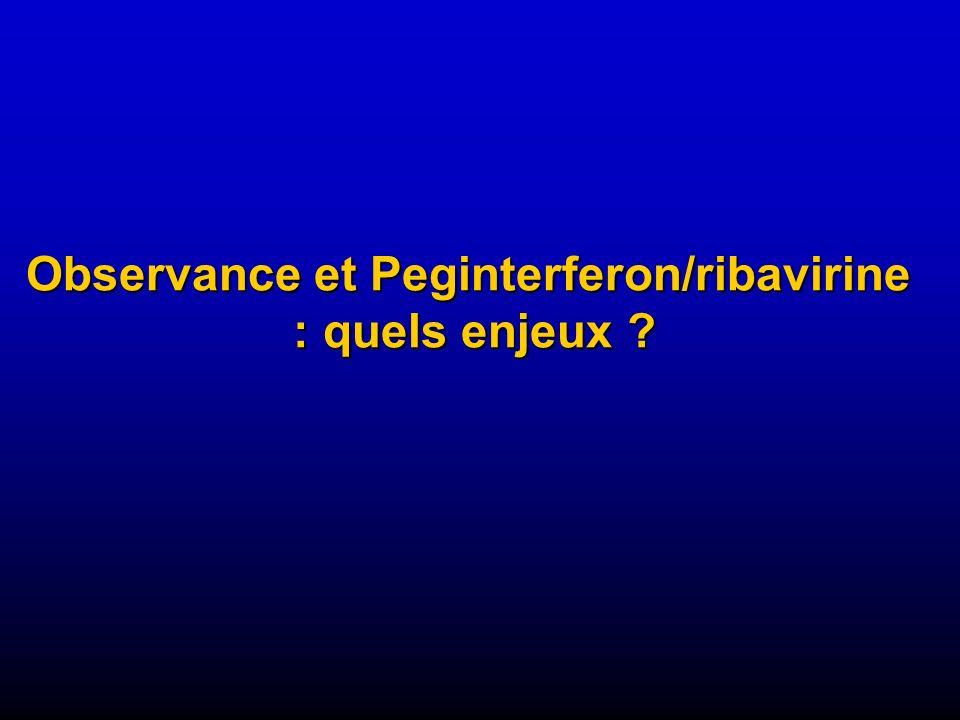 Observance et Peginterferon/ribavirine : quels enjeux ?