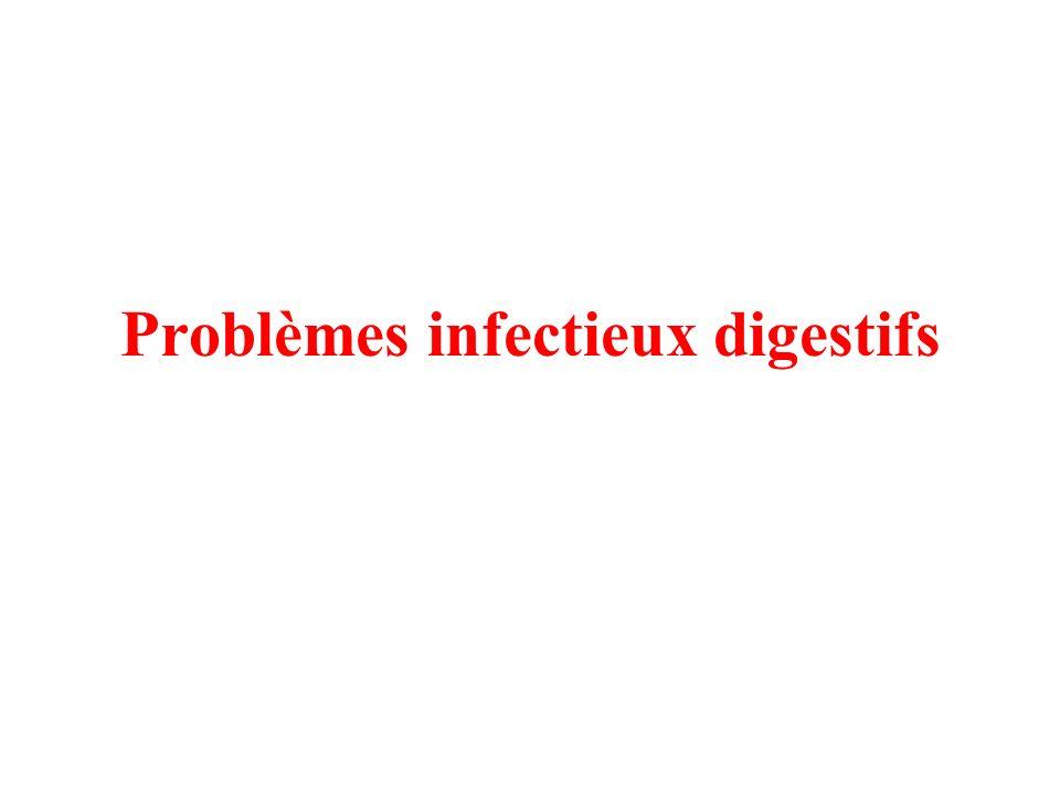 Candidose digestive Signes cliniques : seuls ou en association / souvent avec diarrhées infectieuses associées –orale : aspect de muguet –digestive : diarrhées avec signes doesophagite, signes de type RGO –dermite du siège : aspect de dermite / toujours à suspecter Diagnostic : recherche par écouvillon et examen direct/culture, le plus souvent candida albicans Traitement spécifique : –local / bouche = mycostatine ou nystatine suspension 1 dose 4x/jour ou miconazole 2% gel oral pendant 3 jours –pour la forme digestive = fluconazole 5 mg/kg/j Traitement de support : nutrition