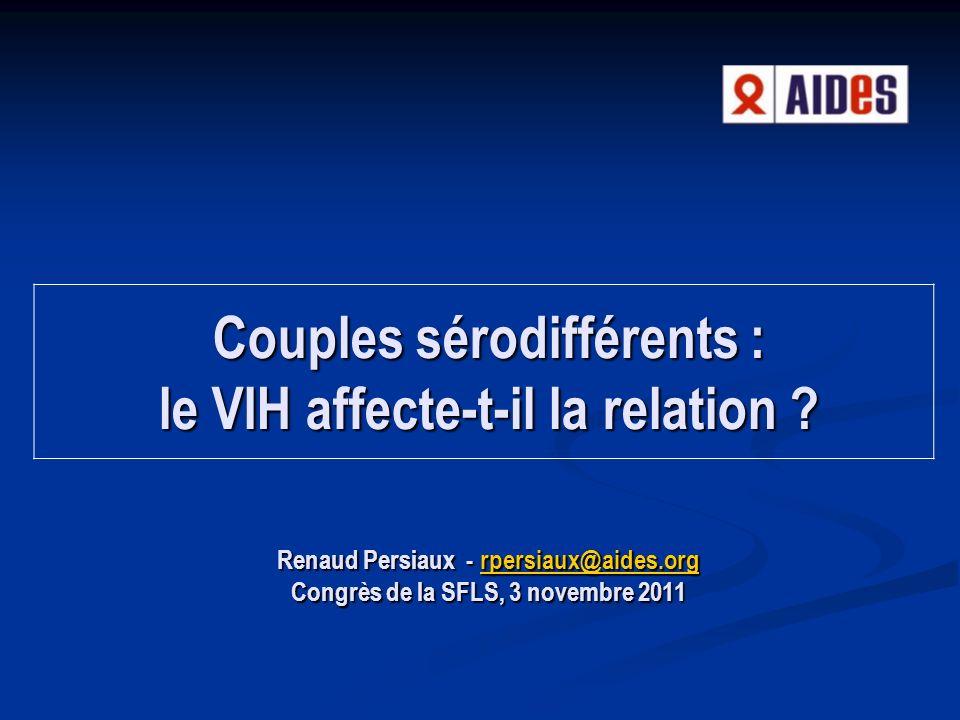 Couples sérodifférents : le VIH affecte-t-il la relation .