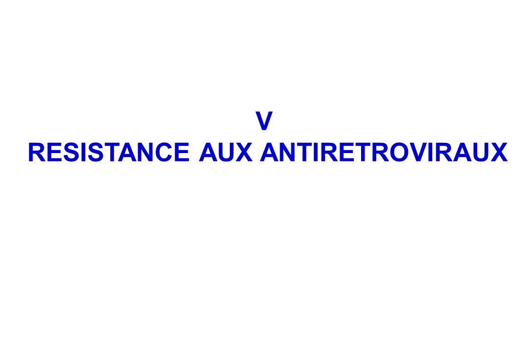 V RESISTANCE AUX ANTIRETROVIRAUX
